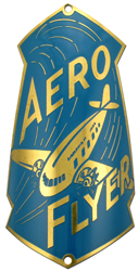 aero flyer bike tube head badge brass