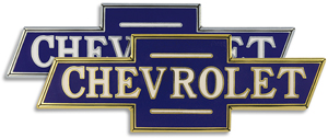 chevy chevrolet hood ornament medallion emblem chrome gold plated