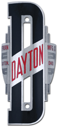 dayton bike tube head badge nickel