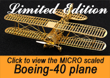 micro scaled brass boeing 40 model