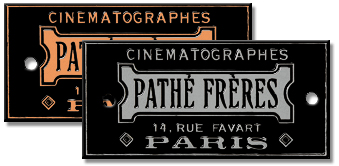 pathes freres cinematographes camera plate nickel plated copper