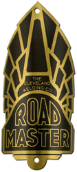 road master cleveland welding bike tube head badge brass