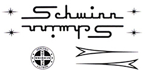 schwinn bike decal sticker set black