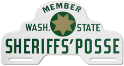 washington sheriffs posse license plate topper