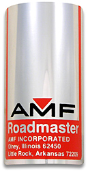 AMF roadmaster bike head badge tube aluminum
