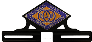 AAA California license plate topper