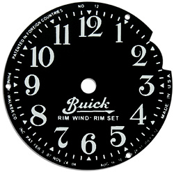 buick rim wing clock face plate steel