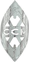 canadian ccm bike badge diamond nickel