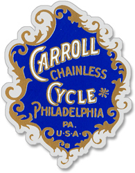 carroll chainless cycle decal