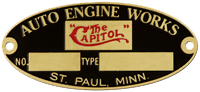 the capitol auto engine works plate brass