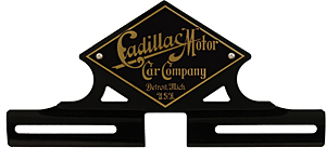cadillac license plate topper pedal car small brass