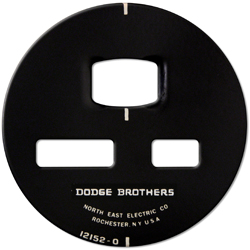 dodge brothers gauge face plate stam,ped screened steel