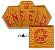 endfield motorcycle badge plate brass