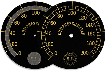 edelmann compressor gauge face brass