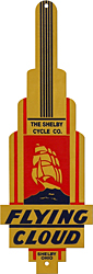 Shelby The Rocket bike badge brass