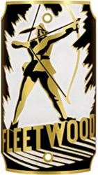 fleetwood archer bike tube head badge brass