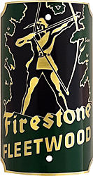 firestone fleetwood green archer bike tube head badge brass