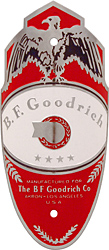 B.F. BF goodrich bike head tube badge nickel