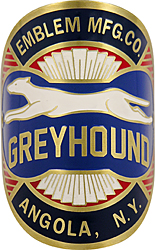Emblem mfg co greyhound bike bike tube head brass