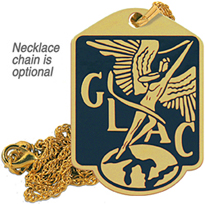 great lakes aircraft keychain logo brass