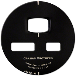 graham brothers gauge face plate stam,ped screened steel