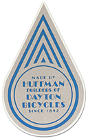 huffman dayton cycles seat post bike decal sticker