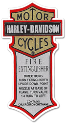 harley davidson fire extinguisher decal