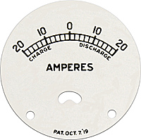 Indian motorcycle ampres amp gauge face plate aluminum