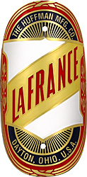 LaFrance Huffman bike badge brass
