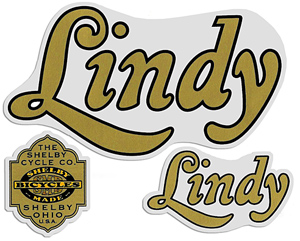 shelby lindy bike decal stickers