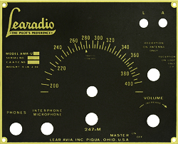 learadio face plate brass