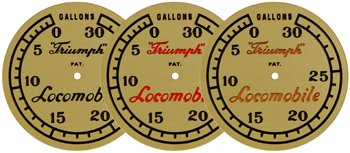 locomobile brass hubcap medallions 2 sizes