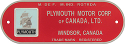 plymouth canada firewall plate aluminum