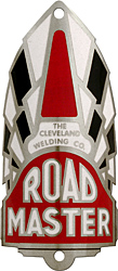 road master cleveland welding bike tube head badge aluminum