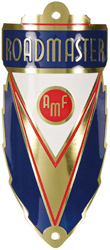 amf roadmaster bike head tube badge