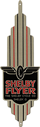 shelby cycle flyer bike bicycle badge head tube aluminum