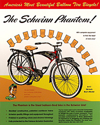 Vintage schwinn phantom color poster bike