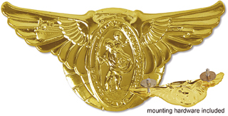 gold plated st. christophers pin dash medallion