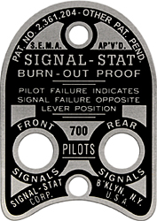 signal stat signal switch plate 700 aluminum