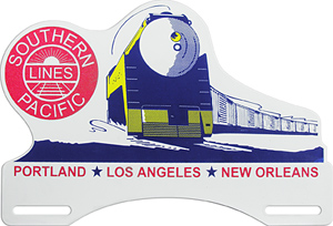 southern pacific lines license plate topper