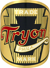 tryon bike badge brass head tube