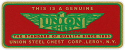 union chest toolbox decal sticker vintage