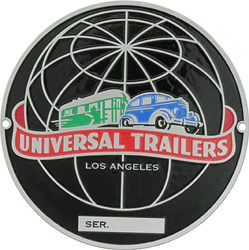 universal trailers serial number sn plate tag aluminum