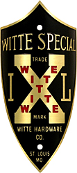 witte hardware special brass bilke head badge