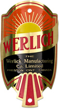 werlick canada bike tube head badge brass