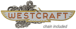 westrcraft trailer necklace stainless steel metal