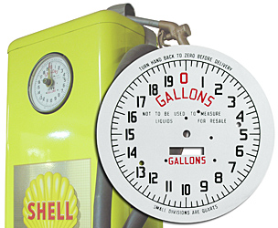 gas pump gallons face plate