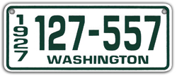 mini small 1927 washington state license plate pedal car
