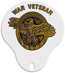 war veteran license plate topper